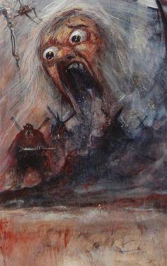 """Marcel Nino Pajot  """"Les Sortilèges sur la Mancha""""  (détail)"""