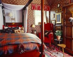 tartan bedroom in Scotland ~ Ward Denton