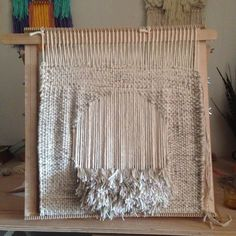 Woven wall hanging / weaving tapestry by Maryanne Moodie www.maryannemoodie.com