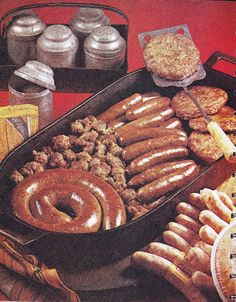 A Real Sausage Fest!  Awful sausage recipes from the folks at Oscar Mayer (1973), including a dazzling Holiday Meat Tree.