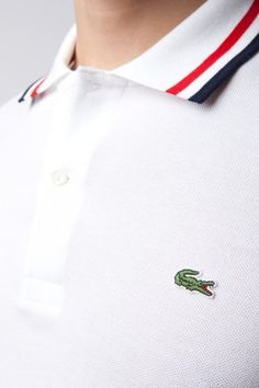 #Lacoste Jeffrey Short Sleeve Ribbed #Collar #Polo with Tipping