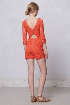 Anthropologie- Accordance Lace Romper