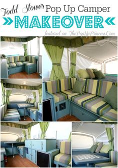 Pop Up Camper Remodel: Todd's Pop Up Makeover.  Such a classic makeover--and not too girly.