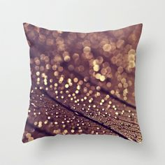 copper rain Throw Pillow by ingz - $20.00 love these colors!