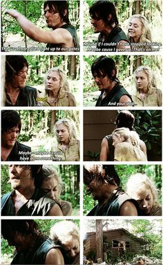 Daryl & Beth #Bethyl  ITS SO FREAKING HARD TO SEE HIM CRY URGGGGG