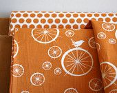 Fabric source - Etsy  too cute - orange and birdies