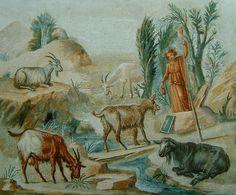 39.  folyóparti táj állatokkal, mozaik, pompeii. pvl_70
