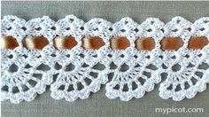 PUNTILLAS TEJIDAS A CROCHET Nº1 - YouTube