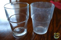 how to remove hard water stains from glasses - no harsh chemicals required!