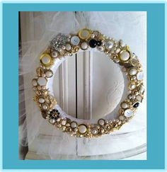 Hand Made Shabby Chic Button Wreath