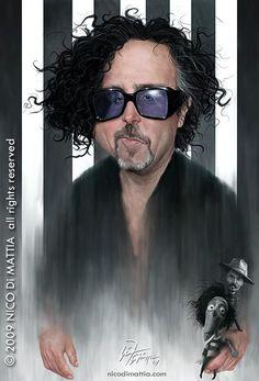 Nico Di Mattia – Caricaturas.   Tim Burton