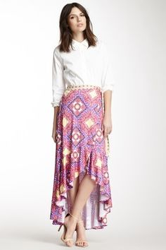 Cheeta Printed Wrap Skirt