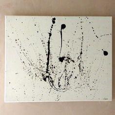 Tableau rouge et noir moderne contemporain eclosion for Peinture tableau blanc castorama