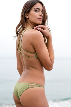 Frankie's Bikinis - Kaia Bottom / Camo Green