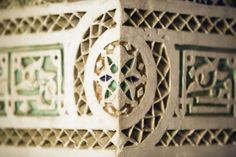 Wall border, Museum of Marrakesh, Morocco