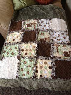 Baby Rag Quilt by mpeechatka on Etsy, $30.00