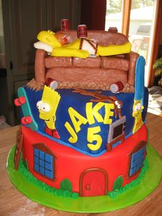 simpsons birthday cake | The Simpsons — Birthday Cakes
