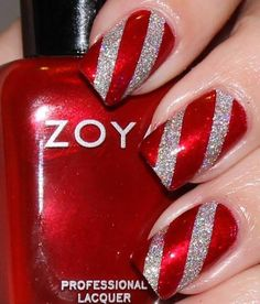 Silver & red candy cane