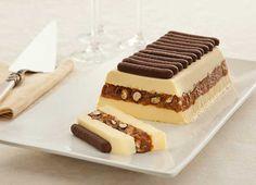 Terrine Gelada de Praliné e Palitos de Chocolate | Receitas e Dicas do Chef
