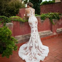 Don't worry, there's a nude lining under this gown. Very beautiful.