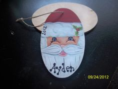 Santa Claus Christmas Ornament~Personalized in Uniquely You Decor