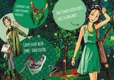#pascualinastyle #pascualinafashion Jewel Tone Colors, Jewel Tones, Go Green, Green Dress, Clothes, Fashion, Psicologia, Sweet, Clothing