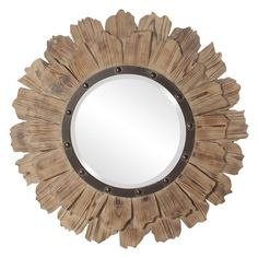 35 in. x 35 in. Layered Natural Wood Planks Framed Mirror 37075 - The Home Depot - 35 in. x 35 in. Layered Natural Wood Planks Framed Mirror 37075 – The Home Depot Round Wood Mirror, Round Mirrors, Round Frame, Rustic Mirrors, Home Decor Mirrors, Wall Decor, Wall Art, Wood Rounds, Mirrors