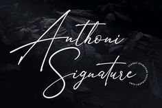 Anthoni Signature was designed by Arif Dwi and published by Kotak Kuning Studio. Anthoni Signature contains 1 style. Handwritten Fonts, Calligraphy Fonts, Script Fonts, Modern Calligraphy, Cool Fonts, New Fonts, Simple Fonts, Pretty Fonts, Creative Fonts