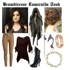 """Bramblerose Esmeralda Took ~ A Very Adventurous Hobbit"" by accio-hogwarts-81 ❤ liked on Polyvore featuring Nicholas K, H&M, Carole, Betsey Johnson and Allurez"