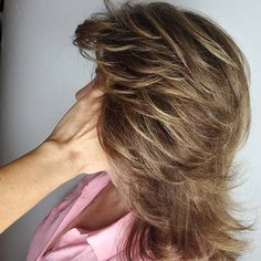 23 Stylish Feathered Hair Cuts for All Lengths | StayGlam Medium Layered Haircuts, Haircuts For Medium Hair, Medium Hair Cuts, Medium Hair Styles, Straight Hairstyles, Short Hair Styles, Pixie Haircuts, Medium Shag Hairstyles, Layered Hairstyles