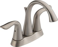 Delta Faucet Lahara™ Centerset Lavatory Faucet with Lever Handles Stainless Steel D2538SSMPUDST