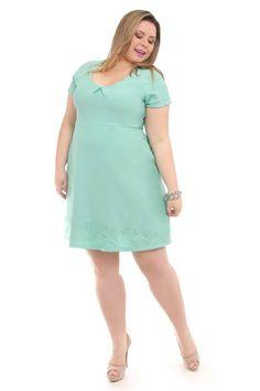 Vestido barrado Plus Size