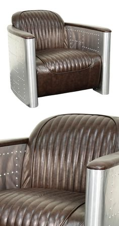 mixing contemporary style with vintage inspiration, the Tectonic Accent Chair offers a nouveau blend of aviation and Western themes. With a frame made from aluminum and solid wood, its energy level is ...  Find the Tectonic Accent Chair, as seen in the The Foundry Collection at http://dotandbo.com/collections/the-foundry?utm_source=pinterest&utm_medium=organic&db_sku=115538