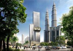 Proposed Landmark Tower in Kuala Lumpur by Buro Ole Scheeren