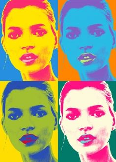 Andy Warhol style pop art portraits are getting increasingly popular especially as the technology to readily transform your favourite portrait photo into a great, modern Warhol work of art is more readily available. At Blue Horizon Prints not only. Andy Warhol Pop Art, Pittsburgh, Warhol Paintings, Photo Star, Pop Art Portraits, Arte Pop, Portrait Photo, Kate Moss, American Artists