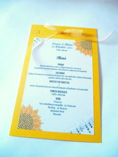 Wedding menu music theme
