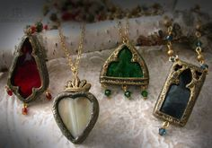 Early April Stained Glass pendants