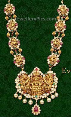 gold haram with flat diamonds
