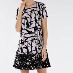 BCBG Bailee dress Sz S Gorgeous spectacular maxi dress  Black and lavender print. Short sleeve dress. Perfect condition! Worn ones like new. BCBG Dresses Maxi