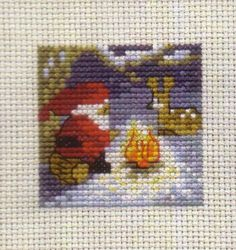 Santa Campfire Mini: Cross stitch (Permin, 14-1225)