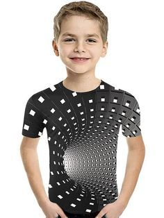 Gender: Boys' Style: Active, Basic Kids Apparel: Tee Fabric: Polyester, Spandex Sleeve Length: Short Sleeve Look After Me: Machine wash Pattern: 3D, Color Block, Geometric, Print Popular Country: United States, Netherlands, Germany, Sweden, United Kingdom Design: Print Festival: Christmas Age Group: Toddler, Kids