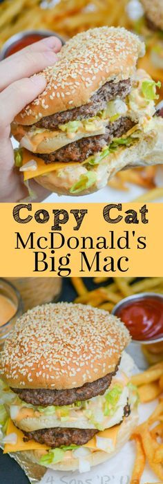 Get an authentic taste of your favorite fast food burger with this Copy Cat McDonald's Big Mac. It's got everything you crave about the classic double decker sandwich, including the 'secret sauce', that's a spot on replica. Serve it with an ice cold coke, and crispy french fries for an authentic lunch or dinner.