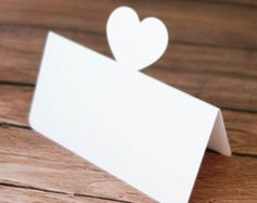LOVELY HEART design Wedding Party place name cards Happiness Escort