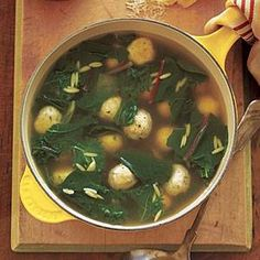 Chicken Meatball and Greens Soup @ https://www.facebook.com/photo.php?fbid=526458310724932=a.347573805280051.76666.200013076702792=1