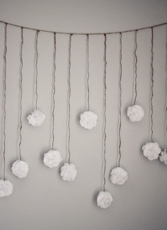 White Tissue Paper Flower Wedding Garland, Photography Prop, Party Decoration. $20.00, via Etsy.