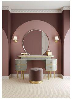 Art Deco Bedroom, Room Design Bedroom, Home Room Design, Bedroom Decor, Bedroom Ideas, Modern Dressing Table Designs, Dressing Room Design, Art Deco Dressing Table, Makeup Room Decor