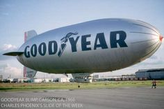 "Goodyear Blimps have been flying billboards for the tire and rubber company for 80 years. The tradition of the ""Aerial Ambassadors"" began in 1925 when Goodyear built its first helium-filled airship. Over the years Goodyear built more than 300 blimps, more than any other company in the world."