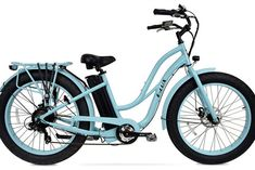 E-LUX Tahoe Step Through Luxury Beach Cruiser w/ Fat Tires Electric Bike The E-LUX Tahoe is a luxury beach cruiser ebike, it enables you to enjoy a fun ride with minimal effort if wanted! This electri Tire Steps, Short Cruises, Buy Bike, Cool Bike Accessories, Electric Bicycle, Electric Beach, Sport Bikes, Mountain Biking, Fat
