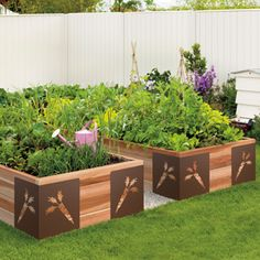 Just because its a raised bed doesn't mean it should be an eye sore in your garden...love the beauty of this do it your self project.