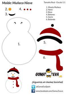 Muñeco de Nieve de Goma Eva